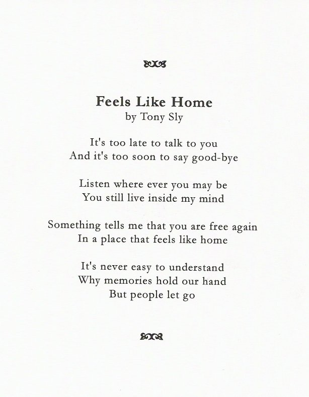 "Tony Sly - ""Feels Like Home"""