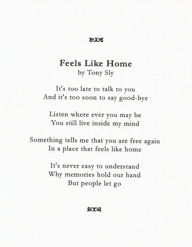 "Tony Sly - ""Feels Like Home"""